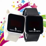 Unisex Silicone Horloge Band Touch LED Horloge