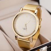 Mode Aluminium Armband Rond Wijzer Kwarts Horloges