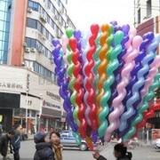100stuks/pak Multiple Kleuren Twist Spiraal Latex Ballons