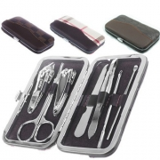 7 In 1 Vingernagel Gereedschap Portable Manicure Set Box