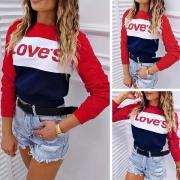 Modern Bedrukt Sweatshirt met Contrasterende Kleuren en Lange Mouwen