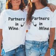 Modern Bedrukt Besties-T-shirt met Korte Mouwen en ronde Hals