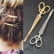 Eenvoudige Schaar Haarspeld Haaraccessoires