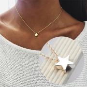 Modern Gold / Zilver Pentagram Hanger Halsketting