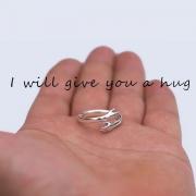 Leuke Ring voor Koppels in de Vorm van een Knuffel