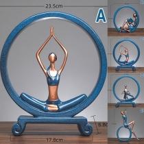 Creatieve Decoratie Ornamenten met Yogafiguren