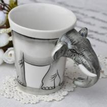Handwerk Beschilderde Olifant Coffee Cup