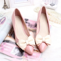 Femme Bow Point Toe High Stiletto Heel Shoes Pump