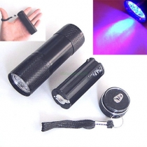 UV Ultra Violet Blacklight 9 LED Flashlight Torch Light
