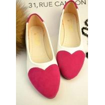 Sweet Cute Heart Pattern Pointed-toe Loafers