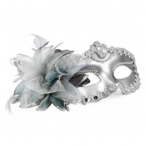 Venetiaanse Stijl Zilver Oogmaskers Masquerade Mardi Masker Dames Sieraden