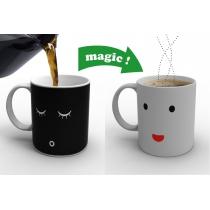 Magic Morning  Face  Cut Ceramic Gift Coffee Tea Wake-up Face Cup Mug