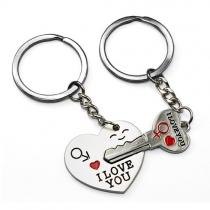 Key to My Heart Cute Couple Keychain Love Keychain Key Ring