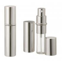 Silver Metallic Perfume Atomizer Spray 10 ML for purse or travel Refillable