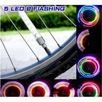 Kleurrijke LED-verlichting voor Fietsventielen