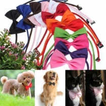 2pcs Adjustable Dog Bow Tie Pet Collar Perfect for Wedding Tie Party   Accessories