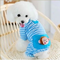 Adorable Cozy Dog Pajamas for Dog Shirt Dog Jumpsuit Dog Clothes Cute Monkey Pet Clothes