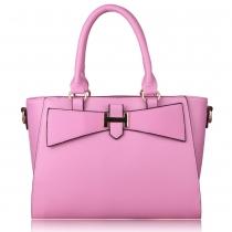 Cany Color Bowknot Double Handle Tote Shoulder Bag Handbag