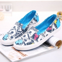 United States Dollar Print Slip On Flat Loafer
