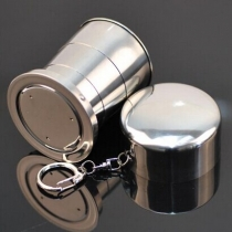 Portable Stainless Steel Folding Telescopic Collapsible Travel Picnic Cup