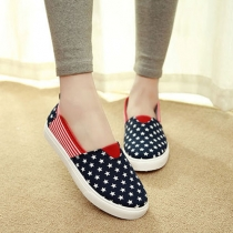 Star Stripe Slip On Sneaker Loafer Platform Shoes