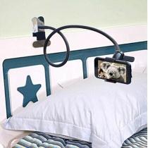 In 360 Graden Draaibaar en Verstelbaar Bed Bureau Clip-stijl Telefoonhouder