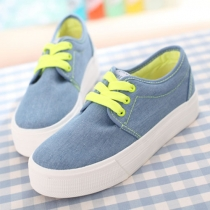 Lace Up Casual Canvas Shoes Low Top Flat Sneaker