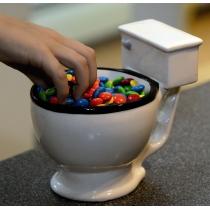 Creatief Keramisch Koffiekopje in Toiletvorm