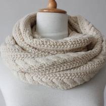 Warm Eenvoudig Pure Kleur Gebreid Sjaal voor Liefhebbers