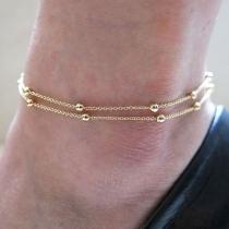 Mode Koperen Parels Gouden Gekleurde Voet Enkel Ketting Enkelbandje Armband