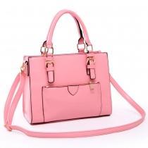 Fashion Candy Color Buckle Strap Handbag Cross Body Bag