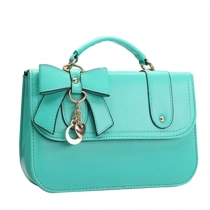Fashion Bowknot Hardware Pendant Handbag Cross Body Bag
