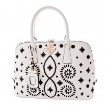 Retro Woven Shell Handbag Shoulder Messenger Bag