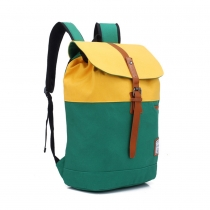 Fashion Contrast Color Canvas Backpack Computer Bag