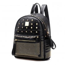 Retro Rivets Backpack School Bag