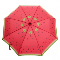 Watermelon Print Compact Folding Umbrella for Rain