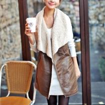 Fashion Lapel Slim Fit Long-style Vest