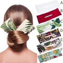 Haarband in Boheemse Stijl met een Chic Patroon en Strikjesvorm 2 Stuks / Set