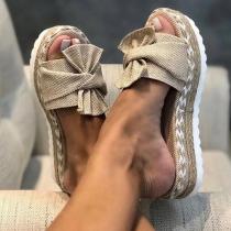 Casual Slippers met Dikke Zolen en Vrije Tenen
