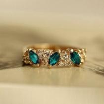 Luxe Bergkristallen Smaragd Ring