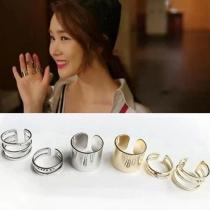 Goudkleurig/Zilverkleurige Ringen 3 Stuks 1 Set