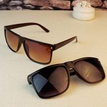 3 Kleuren Retro Klinknagels Vierkant Frame Anti-UV Unisex Zonnebrillen
