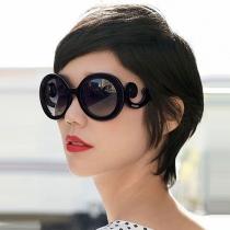 Retro Rond Frame Anti-UV Vrouwen Zonnebrillen