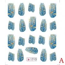 Mode Veer Nagel Kunst Water Overschrijving Nagel Stikker