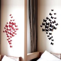 12 stuks 3D Vlinder Muurstickers