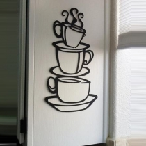 38*21 cm Waterbestendig Verwijderbaar Koffiekop Muurstickers