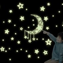 Romantisch Lichtgevend Sterren Maan DIY Muurstickers