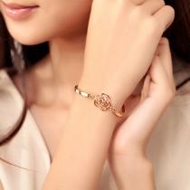 Mode Goudkleurig Bergkristal Camelia Armband