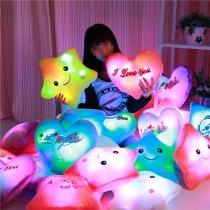 Kleurrijk Gloei LED Lichtgevend Licht Muziek HoofdKussen Sierkussen