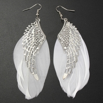 Mode Engel Vleugels Veer Oorbellen